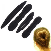 hair sponge - 4pcs set Magic Foam Sponge Hair Styling Donut Bun Maker Former French Twist Tool Hair Band Accessories H4820