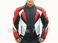 Wholesale Motorcycle motocross Jackets reddish black racing protective jackets Oxford cloth jackets is equipped with cotton liner and armor DN3
