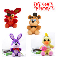 Wholesale 10 quot cm Five Nights At Freddy s FNAF Freddy Fazbear Bear foxy wolf Plush Toys kids toys soft tuffed toys Doll