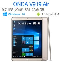 onda wifi - Original Onda V919 Air Dual Boot Tablet PC quot Intel Z3735F Quad Core GB RAM GB ROM Dual camera Win10 Android4