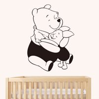 astro stickers - New Astro gril s Room cute Winnie the Pooh personality kindergarten children s room wall stickers