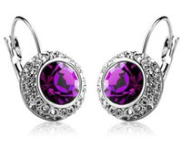 Wholesale Fashion jewelry Women accessories temperament semicircle ear clip Austrian crystal earrings