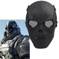 Esquelético del cráneo de Airsoft Paintball pistola BB de la cara llena Proteger la máscara