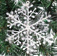 Wholesale Snowflake Christmas supplies Size x11 cm Christmas decoration white Christmas hanging decoration