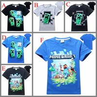 baby creepers - Free DHL Minecraft AAA quality boys clothes Kids Roupas Meninos Boys Clothing Soft Cotton Creeper Children T shirts Baby Boy T shirt