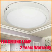 Wholesale Surface Mounted Round White Bedroom Lights Ceiling Panel Light Fixture Warm Cool White V V W W W W LED Ceiling Lamp Home Light