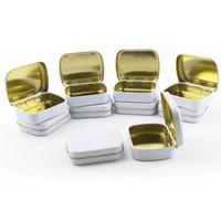 Wholesale 10 White Tin storage box DIY blank Metal organizer box organizador caixa organizadora Casket Novelty households