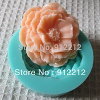 candy molds - 3D Flower Fondant Candy Molds Silicone Mold Soap Sugar Craft Tools Silicone Mould Decoration Mold For Cakes Kitchen Accessories B60372