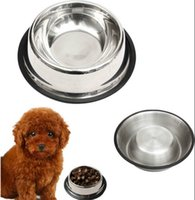 Wholesale Small Stainless Steel Pet Bowl Removable Puppy Food Water Supply Single Dog Cat Feeding Dish