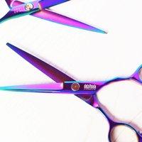 salon product - Purple titanium inch high quality hairdresser shear hair salon product hot sale hair scissors