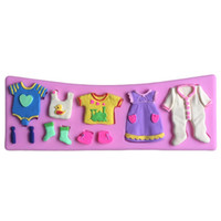 baby clothesline - Baby Clothes Clothesline Shape Silicone Cake Mold Chocolate Mold Fondant Cake Decorating Tool molde silicone
