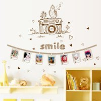 bathroom decoration photos - Creative cm Memory Photo Frame Self Adhesive Vinyl Removable Decals for Bedroom Living Room Decorations Home Decor PVC Wall Stickers