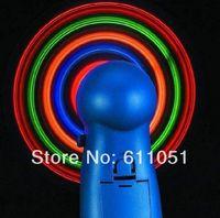 Wholesale 100pcs a Colorful Mini Portable Led Fan Led Flash Mini Electric Fan Student Fan Travel Cool Fan