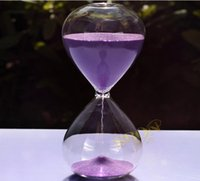 decorative glass art - Fashion Minutes Contemporary Clear Glass Sand Hourglass Timer Art Decorative Minute Sandglass H299