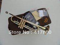 Copia Serie del tipo de Bach TR-600 pequeña de cupronickel de los instrumentos de cobre amarillo en la sección trompeta del Bb del inventario Envío libre