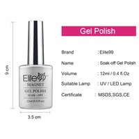 Wholesale Elite99 Color Magnetic UV Cat Eye Gel Nail Polish ml With a Free Magnet stick Nails Manicure Art lasting Lacquer
