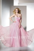 baby doll prom dress - prom Sweet yet Cool Girly strapless sweetheart iridescent chiffon gown pink baby doll prom dresses