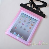 Cheap 28*21CM Waterproof Bag Swimming Boating Fishing Underwater PVC Sealed Case Bag For iPad 2 3 4 Air Samsung Galaxy Tab 2 10.1 inch Tablet PC