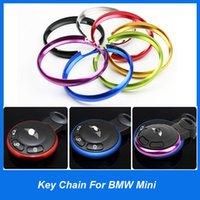 Wholesale Mini Aluminum Alloy Key rings colors can be mixed Mini cooper key trim car key chain