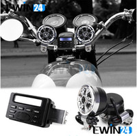 Wholesale 12V FM Motorcycle Car Radio MP3 Speaker Audio Player Stereo And Waterproof Speakers