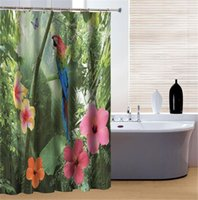 Wholesale Glorious Unique Parrot and Forest Print Great Waterproof D Shower Curtain