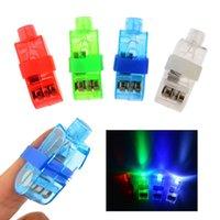 Wholesale 40pcs Halloween Gift Fiber Magic LED Finger Lights for Wedding Party Christmas Celebration Light up Toys