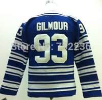 assured homes - 2016 New quality assured Youth Doug Gilmour Jersey Home Blue Toronto Ice Hockey Jerseys kids cheap