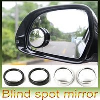 Wholesale 20pcs free Wide Angle Round Convex Car Vehicle Mirror Blind Spot Rear View Messaging retail box