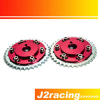Wholesale J2 RACING STORE SLIDE CAM GEAR PULLEY for NISSAN SX SX S13 S14 S15 SILVIA SR20 SR20DET RED PQY6534R