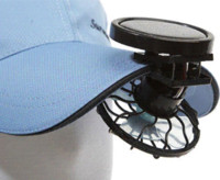 Wholesale Pieces New Solar Cell Fan Sun Power Energy Panel Clip on Cooling Hat Cooler Fan For Camping Hiking