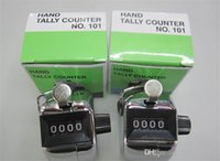 Wholesale silver Hand Tally Counter metal counter digit Manual counters Pressing the manual counter People Counting with retail box