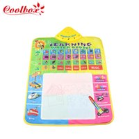 Wholesale Coolbox CB1330NC x49cm size water drawing board with magic pen water doodle mat baby music mat dropping