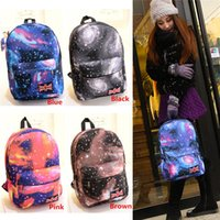 Wholesale New Arrivals Unisex Backpack Style School Bags Rucksack Canvas Polyester Galaxy Pattern Travel Size CM BX200
