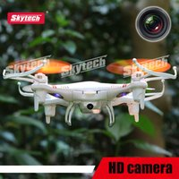 Wholesale 2015 Skytech RC Drones M62 Quadcopter Toys G Axis professional Mini Remote Control Helicopter with Camera m62r Syma X5C