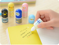 Wholesale New Retail cartoon small animal for all ages mini correction fluid cute correction tape