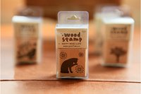 Wholesale 2015 Korea stationery retro diary seal wood forest based literary rubber stamp elections lovely animals patterns