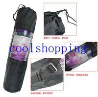 Wholesale DHL Freeshipping nylon yoga bag yoga mat bag carrier mesh center yoga backpack