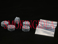 Wholesale 10pcs bag SMOKING HEALTH STONE GRAY COLOR SCREEN DIA ABOUT MM THICK MM OIL SET OR PUT INTO GLASS BOWL Health stone