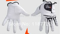 Wholesale High Quality Pair Genuine Cabretta Leather Men Golf Gloves Men s Leather Golf Glove Hands Soft And Breathable