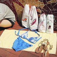 plastic tote - Travel storage bag waterproof shoe swimwear underwear socks plastic tote