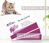 Wholesale FIV Ab Feline Cat Immunodeficiency Virus Ab One Step Rapid Test Kit test pouch