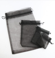 Wholesale MIC Black sizes Organza Jewelry Gift Pouch Bags For Wedding favors beads jewelry Hot sell