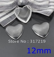 Wholesale 300pcs mm clear Heart glass cabochons domed magnifying photo jewelry pendant inserts available for Making Pendants Jewelry
