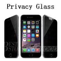 Wholesale Privacy Tempered Glass Iphone Plus Iphone S Plus Samsung Galaxy S7 S6 S5 Note Note Screen Protector Anti Spy DHL