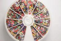 acrylic colour wheel - bag D Mixed colour butterfly Fimo Clay Nail Art Tips Slice Acrylic Decoration Manicure Wheel