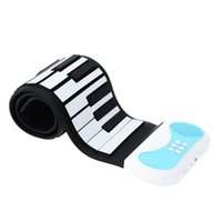 Wholesale 49 keys Portable Flexible Silicon Roll up Piano Keyboard Educational Instrument for Children Preprimary Piano Practitioners order lt no trac