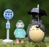 background photographs - 1Set Classical Totoro Display Doll PVC Mini Pot Plant Display Decoration Doll Toy Home Photograph Background DIY Toy TO01