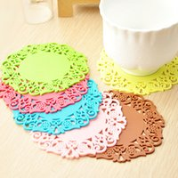 Wholesale set fashion Creative Cup Mat Coasters Insulation Mat Protect Desk Small Gift Table mat