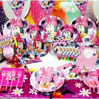 Wholesale 2015 New Luxury Kids Birthday Party Decoration Set Minnie Mouse Decoration Theme Party Supplies Baby Birthday Party Pack order lt no