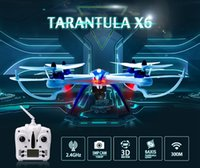 Wholesale New product Free ship RC Quadcopter Axis GHz Helicopter with Camera Remote airplane YiZhan Tarantula X6 Drone JJRC H16
